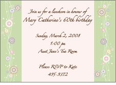 Fluttering Flowers Invitation