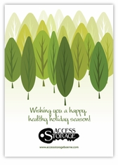 Going Green Corporate Holiday Card