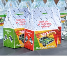 Hot Wheels Race Car Party <br>Personalized Gable Box Party Favor