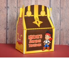 Jake & the Neverland Pirates Treasure Chest<br>Personalized Gable Box Party Favor