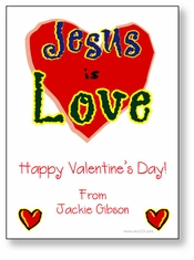 Jesus is Love Personalized Valentine