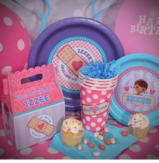 Just the Basics Personalized Party Pack for 12<br>Doc McStuffins Party Pack