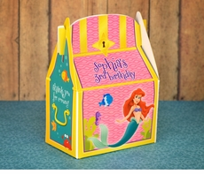 Little Mermaid Treasure Chest Personalized Party Favor Box