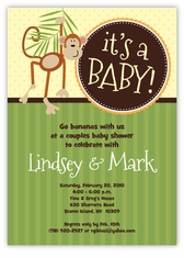 Little Monkey Baby Shower Invitation