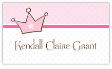Little Princess Calling Card