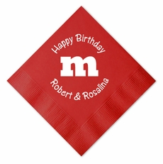 M&M's Birthday Party Beverage Size Napkins