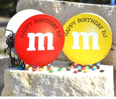 M&M's Party Pair of Personalized Mini Table Decorations