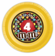 M&M's Party Personalized 9inch Meal Plates