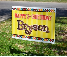 M&M's Personalized Party Yard Sign