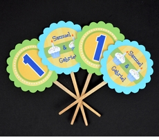 MADE-TO-MATCH<br>Personalized Cupcake Toppers / Picks