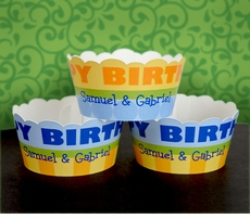 MADE-TO-MATCH<br>Personalized Cupcake Wrappers / Covers