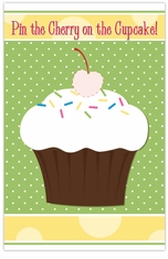 MADE-TO-MATCH<br>Pin the Cherry on the Cupcake Party Game
