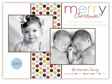 Metro Dots Multi-Photo Holiday Card