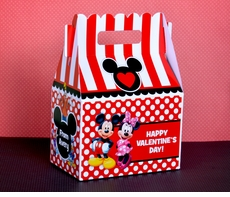 Mickey Mouse & Minnie Mouse<br>Valentine's Day Treat Box