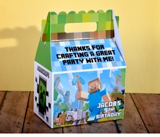 Minecraft Creative Gable Favor Box