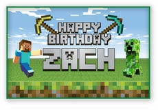 MineCraft Personalized Birthday Large Party Signs