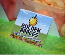 MineCraft Personalized Food Table Tent Signs