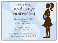 Mod Momma Boy Baby Shower Invitation