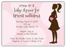 Mod Momma Girl Baby Shower Invitation