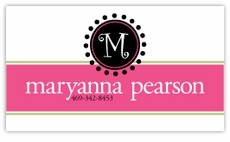 Monogram Stamp Horizontal Calling Card