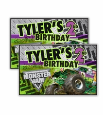 Monster Jam Grave Digger Monster Truck Party Personalized Party Posters