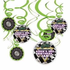 Monster Jam Grave Digger Monster Truck Party Hanging Spinners Decorations
