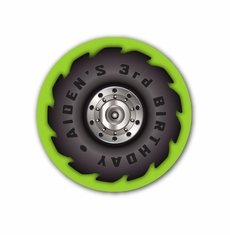 """Monster Jam Grave Digger Monster Truck Party Personalized 2.25"""" Stickers"""