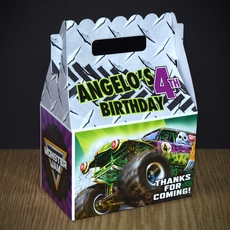 Monster Jam Grave Digger Monster Truck Personalized Gable Box Party Favor