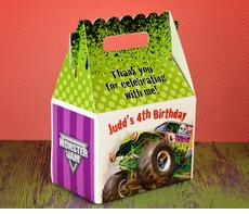 Monster Jam Grave Digger<br>Monster Truck Personalized Gable Box Party Favor