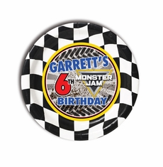 Monster Jam Party Personalized 7inch Cake Plates