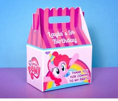 My Little Pony Pinkie Party Gable Box Favor