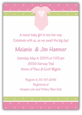 Onsie Girl Baby Shower Invitation