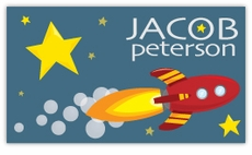 Outer Space Rocket Calling Card