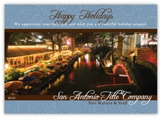 Paisley Riverwalk Corporate Holiday Photo Card