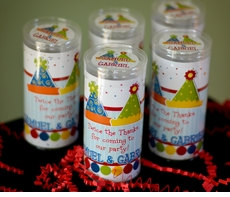 Party Hats Theme Personalized Candy Tube Favor