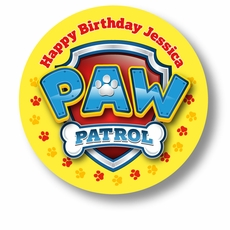 "Paw Patrol Birthday Party Personalized 2.25"" Glossy Stickers"