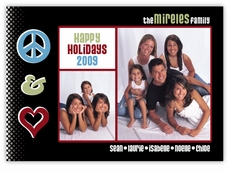 Peace Love Rock Photo Christmas Card