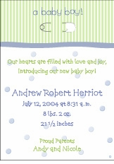 Pin on Stripes Boy Birth Announcement