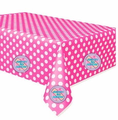 Pink Polka Dot Doc McStuffins Party Table Cover