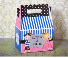 Pirate & Princess Perfect Patterns Party Gable Box Favor