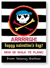 Pirate Skull Cute Personalized Valentine