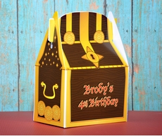 Pirate Treasure Chest Personalized Favor Box