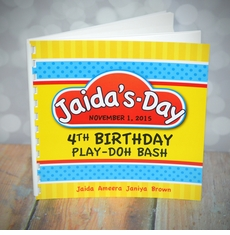 Play-Doh Birthday Memory Book & Guestbook