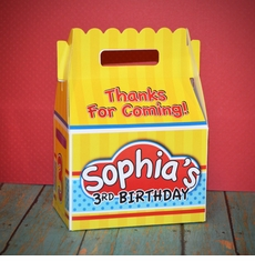 Play-Doh Party Personalized Gable Box Favor