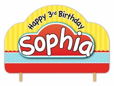 Play-Doh Personalized Happy Birthday Cake Topper