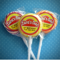 Play-Doh Personalized Lollipop Favors