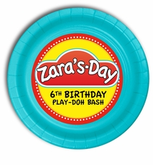 "Play-Doh Personalized Party Plates 7"" Cake & Snack Size"