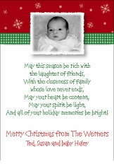 Pleasing Patterns Christmas Birth Announcement