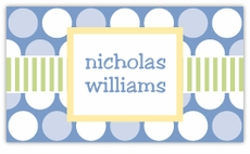 Polka Dot Fun Blue Calling Card