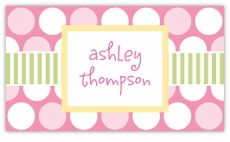 Polka Dot Fun Pink Calling Card